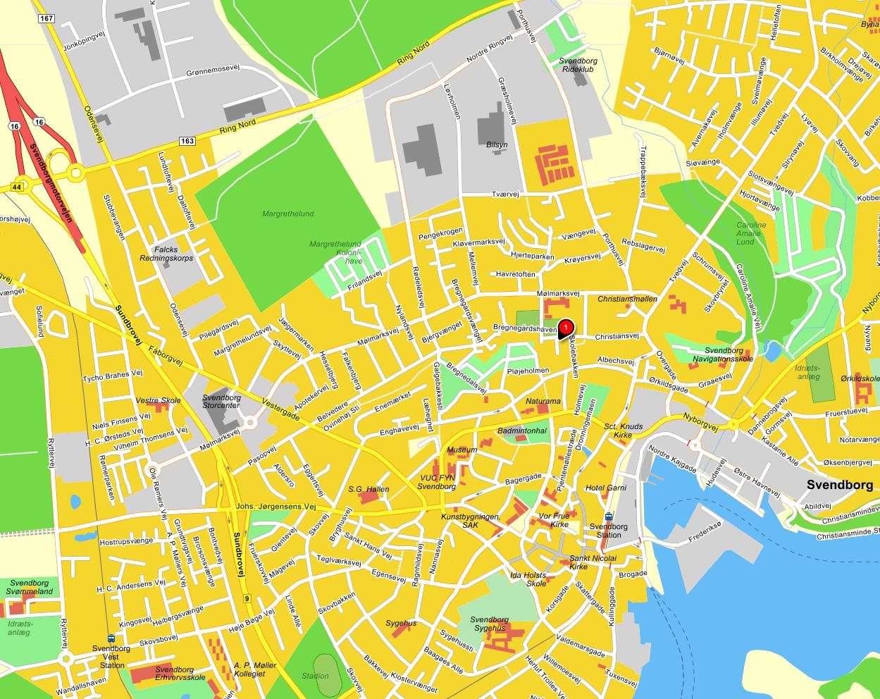 Svendborg Centrum Kort | Kort
